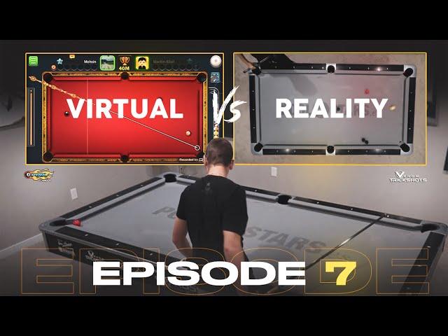 VIRTUAL VS REAL - 8-BALL POOL TRICKSHOTS - Ep 7!!!