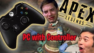 DOMINATING on PC with Xbox One Controller - Apex Legends