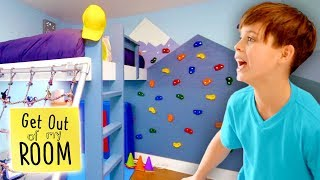 Boy Gets ROCK CLIMBING WALL In His Room! | Get Out Of My Room | Universal Kids