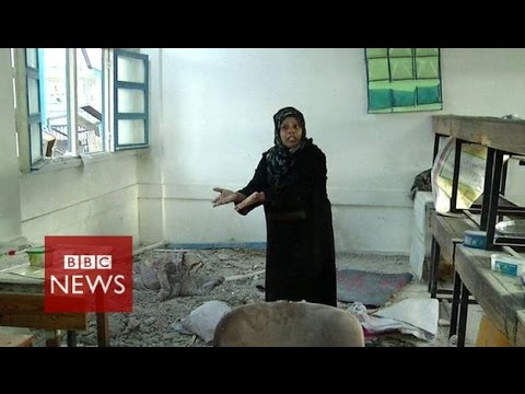 'Gaza children killed as they slept' in UN-run school - BBC News