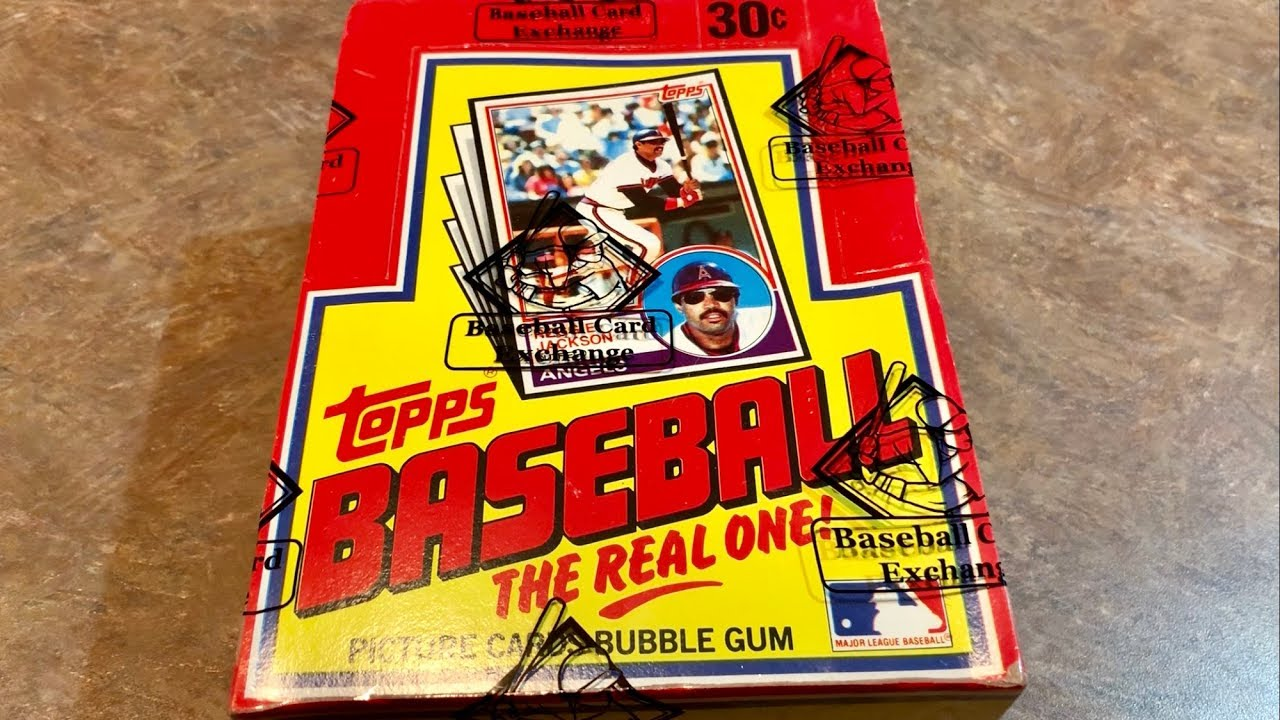 1983 Topps Baseball Card Box Opening Hof Rookie Card Search Throwback Thursday