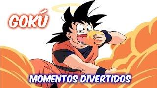 Los Momentos Más Divertidos de Gokú | Español Latino