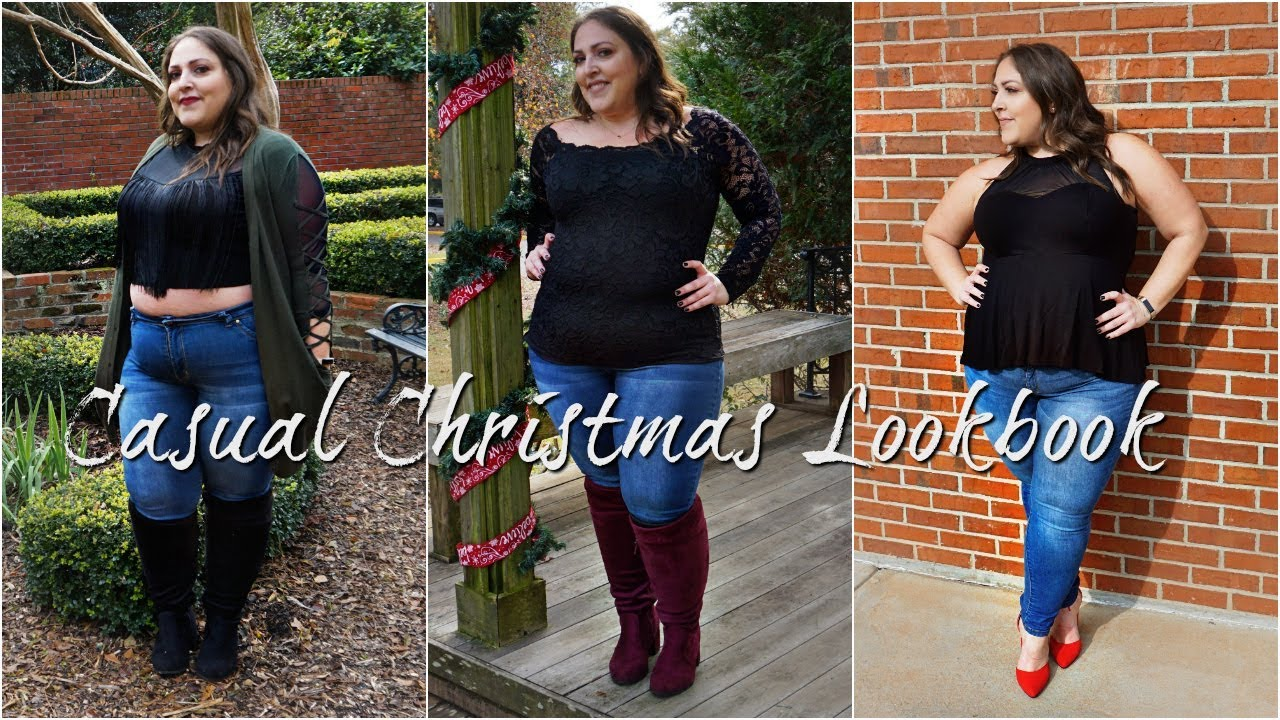 [VIDEO] - PLUS SIZE HOLIDAY LOOKBOOK 2018 | 5 AFFORDABLE CHRISTMAS CASUAL OUTFITS 9