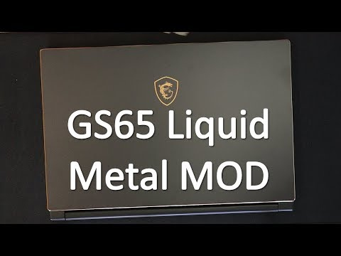MSI GS65 Laptop Teardown and Liquid Metal Mod - 20C Lower
