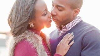 Ebony + Brandon | Winter Urban Downtown Memphis Engagement