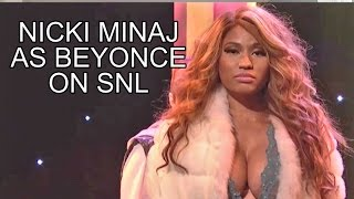 Nicki Minaj SNL Skit Beyonce: Saturday Night Live w/ Justin Bieber, Rihanna, REVIEW