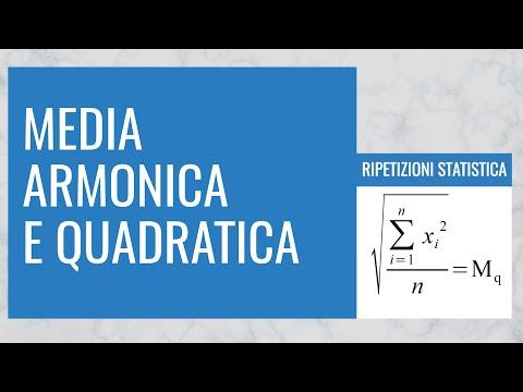 Statistica descrittiva: media armonica, media quadratica