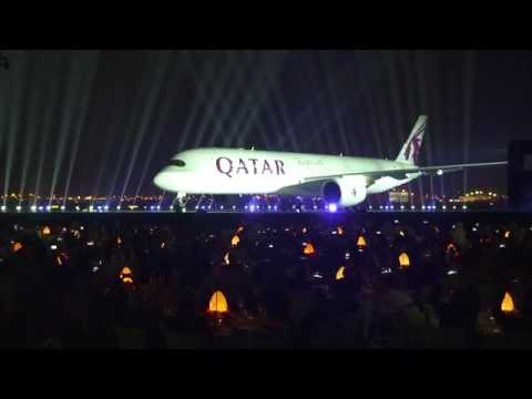The official Qatar A350 reveal event