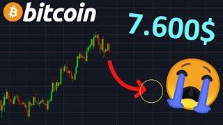 BITCOIN 7600$ OBJECTIF RÉEL!? btc analyse technique crypto monnaie