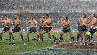 FLASHBACK: All Blacks Sevens Haka in the rain