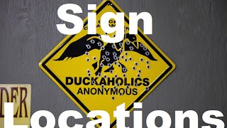 All 19 Sign Locations - Duck Dynasty