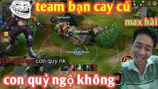 Liên Quân _ Team Bạn Qua Cướp Bùa Thùy Cute Và Cái Kết | Bị Troll Cay Cú Max Hài