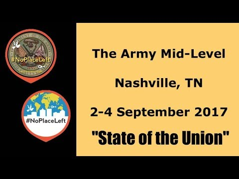 "Army Mid-Level  2017 - ""State of the Union"" - Vision Casting"
