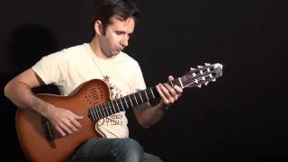 Classical Guitar Improvisation - Godin Grand Concert Duet Ambiance - warm sound