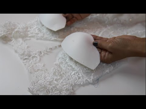 How to sew bra cups into backless dress