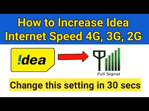 How to Increase Idea Internet Speed 4G, 3G, 2G | Idea 4G VoLTE APN Internet  Setting in Mobile Phones