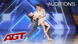 Kid Dancers Izzy and Easton Dazzle With Contemporary Dance - America's