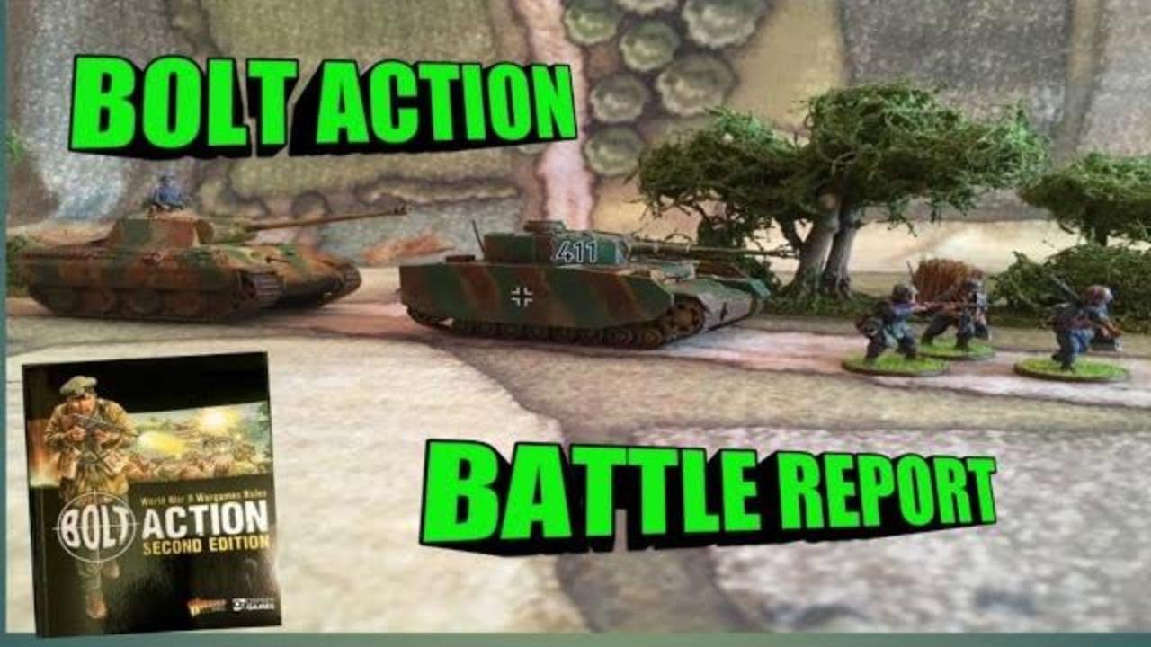 Bolt Action Battle Report Tank war