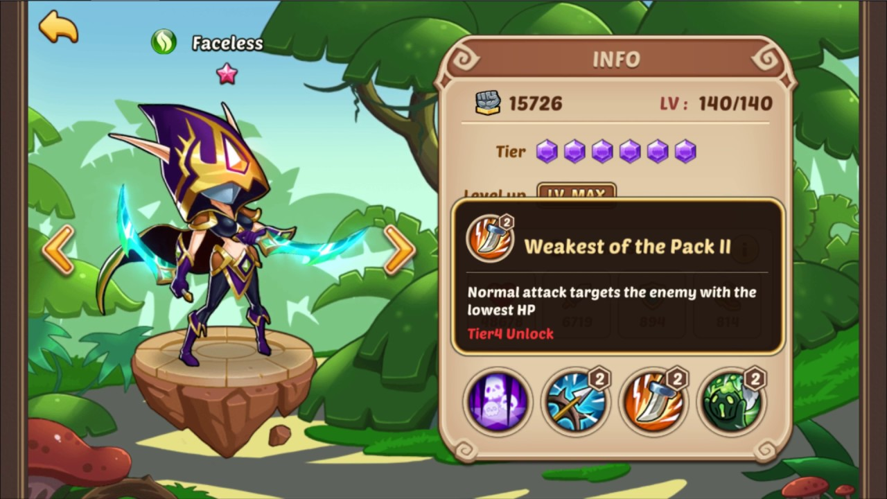 Idle Heroes Unit Discussion - Faceless