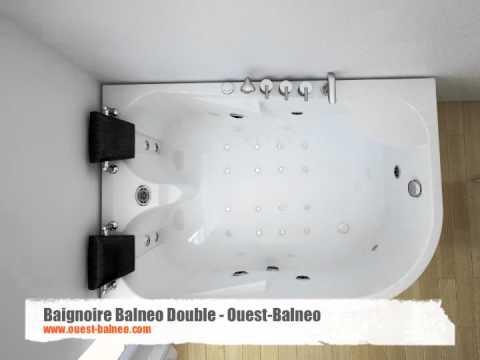 Baignoire Balneo Rectangulaire 2 Places Ouest Balneo Com Youtube
