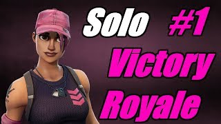 Rose Team Leader True Heart Gives Us Solo 1# Victory Royale! | Fortnite