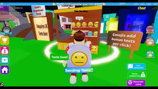 Getting 1 Trillion Texts Sent in Texting Simulator Roblox READ DESC