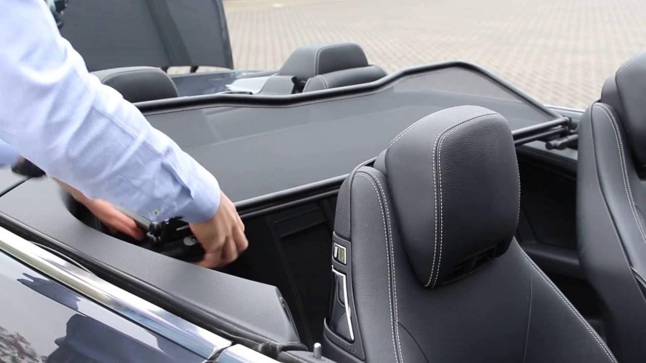Mustang Cabrio 2017 >> Mercedes A207 E-Class convertible APERTA wind deflector installation - YouTube