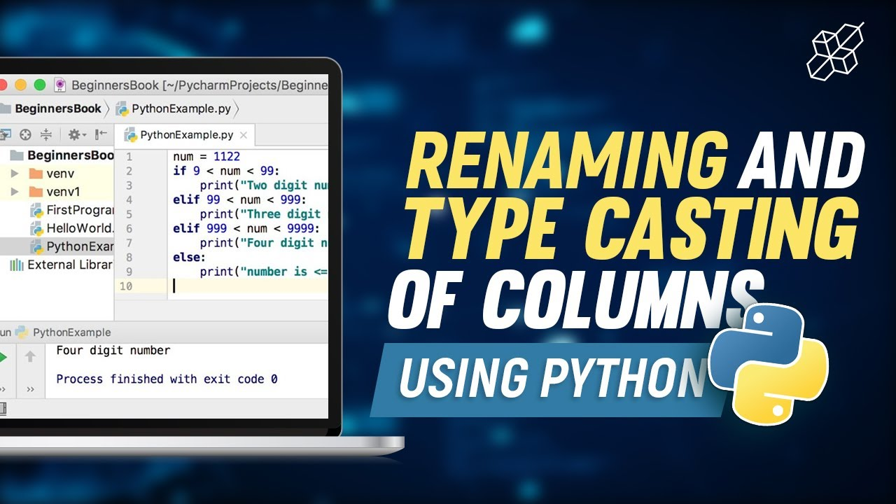 Python Renaming and Type Casting Explained for Beginners | Column Renaming