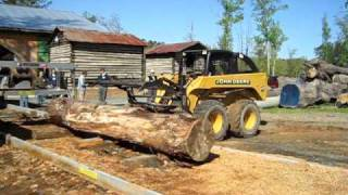 Scott_smith's Shop - Putting The Log In The Sawmill