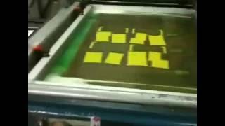 Шелкотрафаретный станок автомат для УФ лакирования Automatic Silk Screen Machine(, 2016-08-02T16:12:17.000Z)