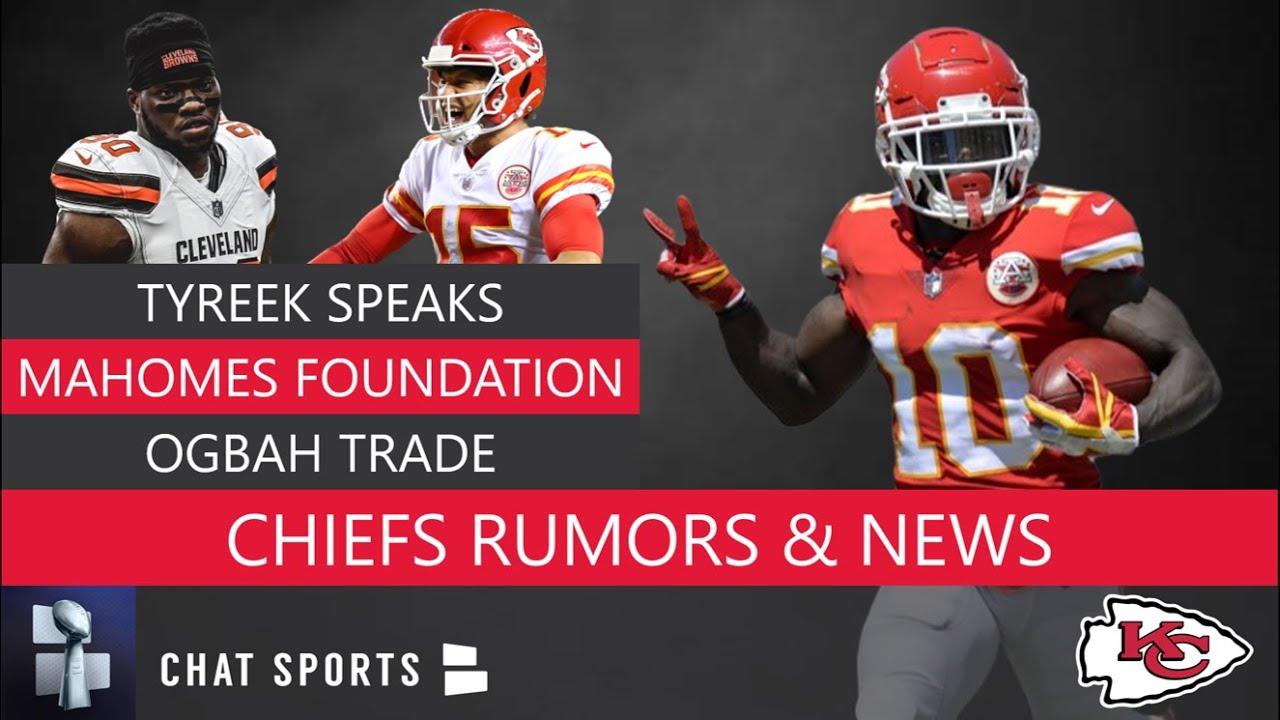 ebe6354d Kansas City Chiefs Rumors: Tyreek Hill & Patrick Mahomes Latest, NFL Draft  Rumors, Chris Jones Deal