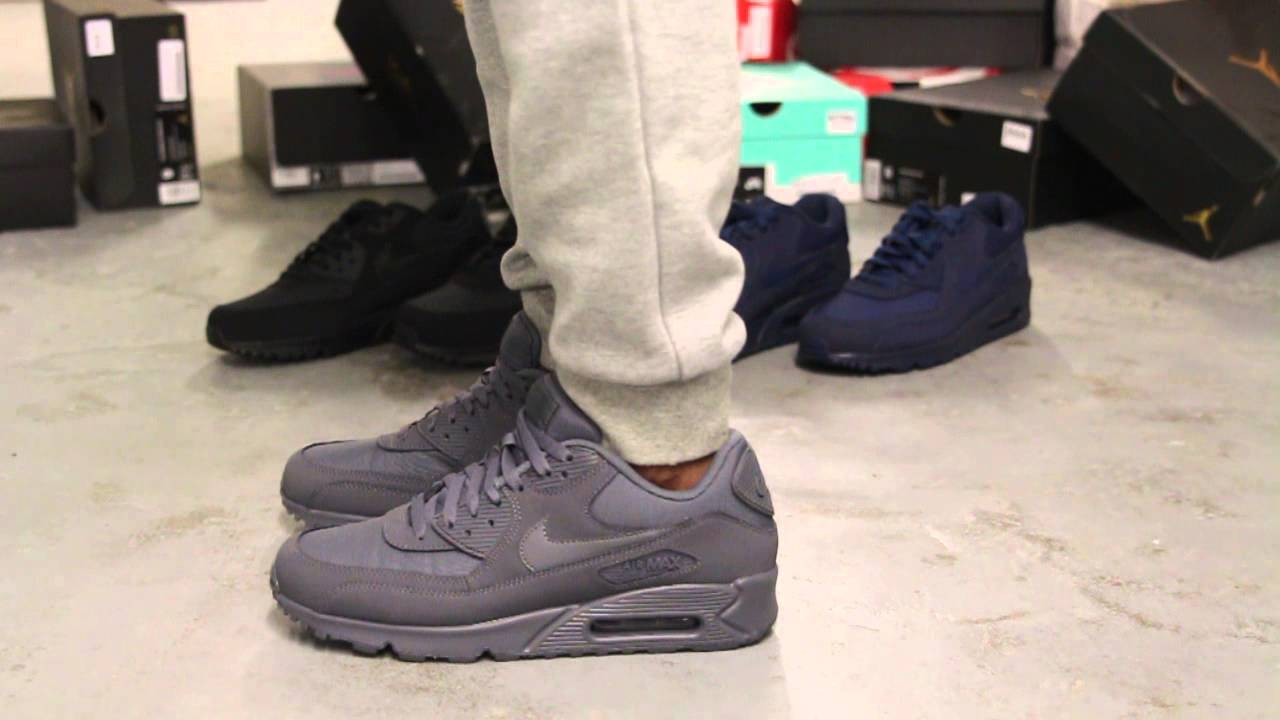 nike air max 90 dark grey white