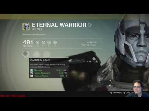 Destiny: Eternal Warrior! New HoW Exotic Titan Helmet!