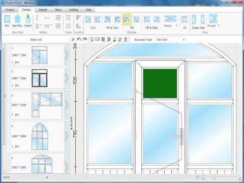Iwindoor Window And Door Design And Calculate Software Youtube
