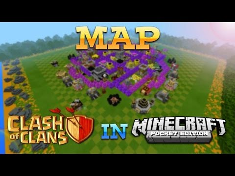 Clash Of Clans Base In Minecraft Pocket Edition!