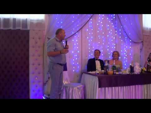 Смешной и интересный тост на свадьбе с прикольной обработкой видеооператора