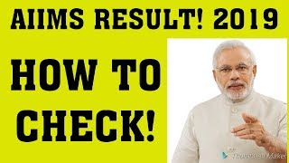 AIIMS RESULT CHECK 2019 MBBS AIIMS 2019 RESULT DATE AIIMS CUTOFF 2019