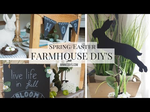 Farmhouse Style | 3 Easy Spring/Easter DIY's | Budget Friendly