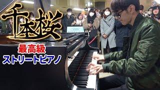 """【最高級のストリートピアノ】「千本桜」を弾いてみた byよみぃ Japanese street piano performance.""""Senbon Zakura"""""""
