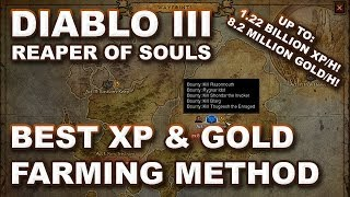 D3 RoS: Fastest Gold & XP Farming Route - Clear the Hell Rift - 8.2mill Gold/h 1.22bill XP/h!