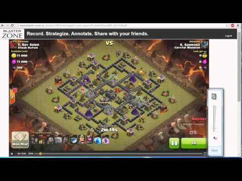 New!! Zoom in every where you want inside the video!! | Clan Wars | Clash Of Clans