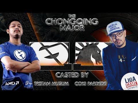 Tretan Muslim & Coki ngecastin game Evil Geniuses + Liquid di ChongQing Major