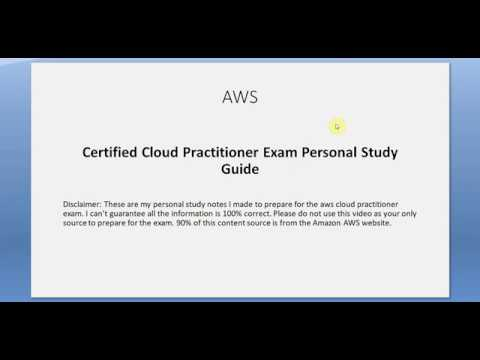 AWS Certified Cloud Practitioner Exam Study Tutorial