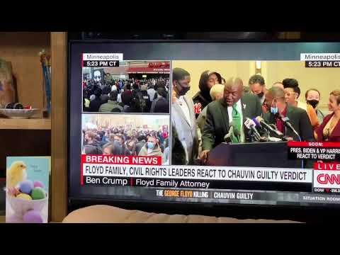 Derek Chauvin Murder Trial Verdict Livestream Reaction Vlog After Murder Of George Floyd