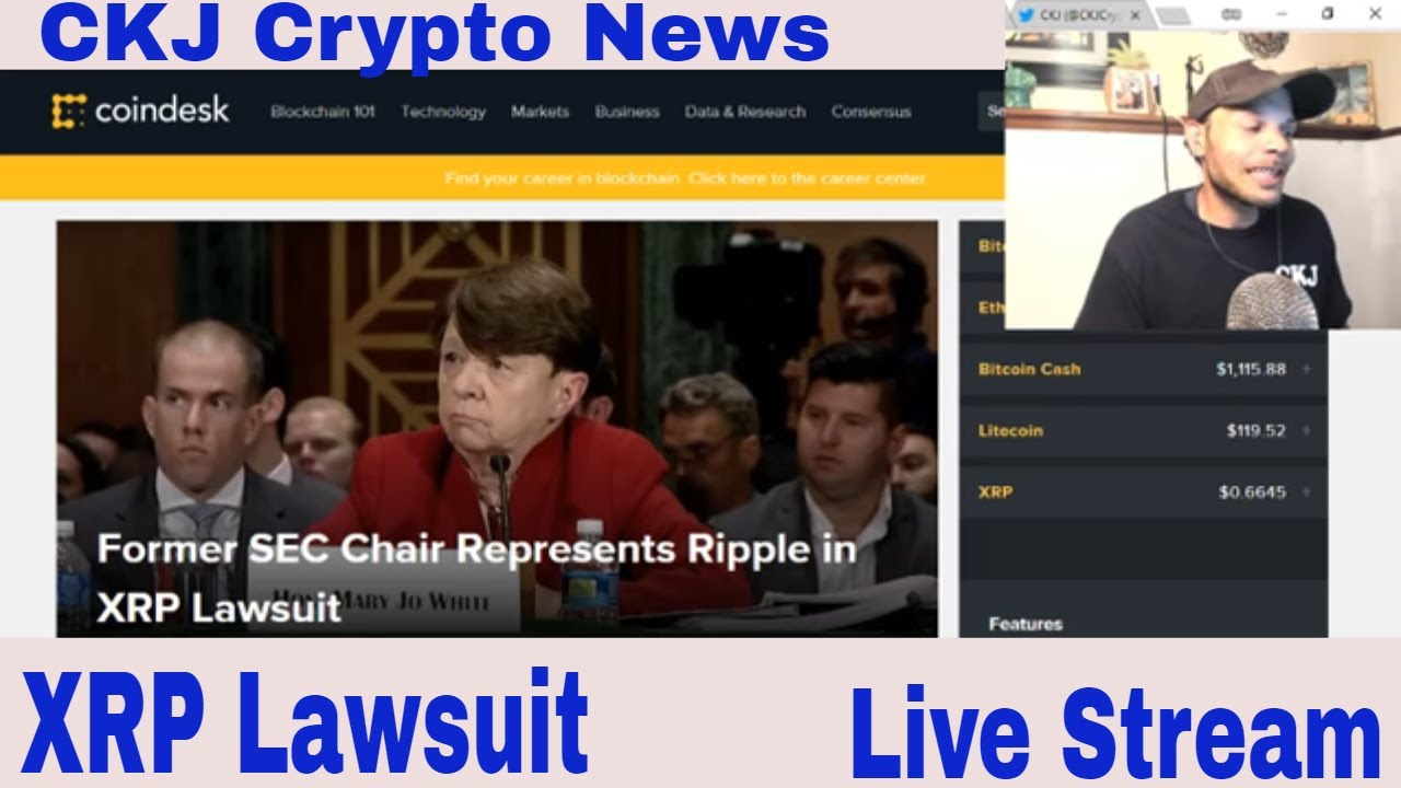 Ripple XRP Former SEC Chair Represents Ripple in XRP Lawsuit  CKJ Crypto news