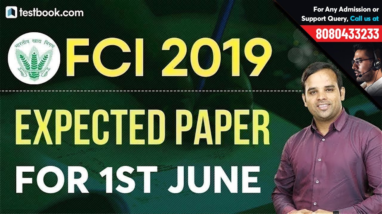 Expected FCI Question Paper 2019 for 1st June | Reasoning Class for FCI Phase 1 by Sachin Sir