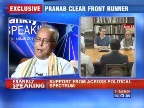 Frankly speaking with Pranab Mukherjee -Part - 1/6