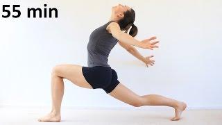 Йога для начинающих: грудной отдел, плечи, спина | 55 min chilelavida
