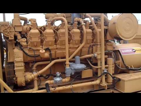 """CAT 3512 LE Natural Gas Generator """"Start-up"""""""