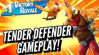 TENDER DEFENDER Skin Gameplay In Fortnite Battle Royale